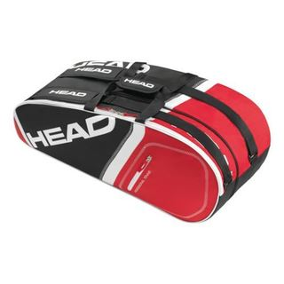 Head Core Combi Red, Black, and White Nylon 6-racket Tennis Bag