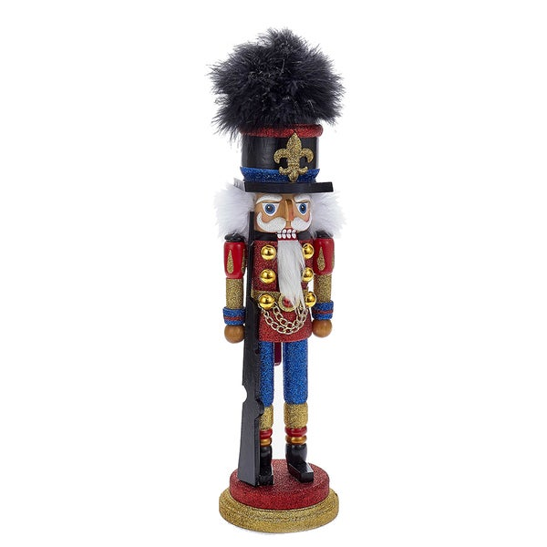 Kurt Adler 18-Inch Red and Blue Soldier Nutcracker