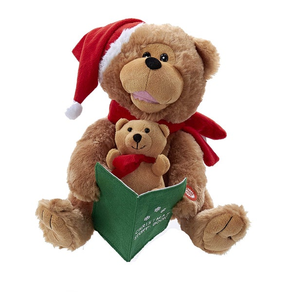 Kurt Adler 10-Inch Battery-Operated Story Telling Bear