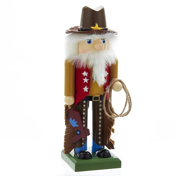 Kurt Adler 7.75-Inch Wooden Cowboy Nutcracker