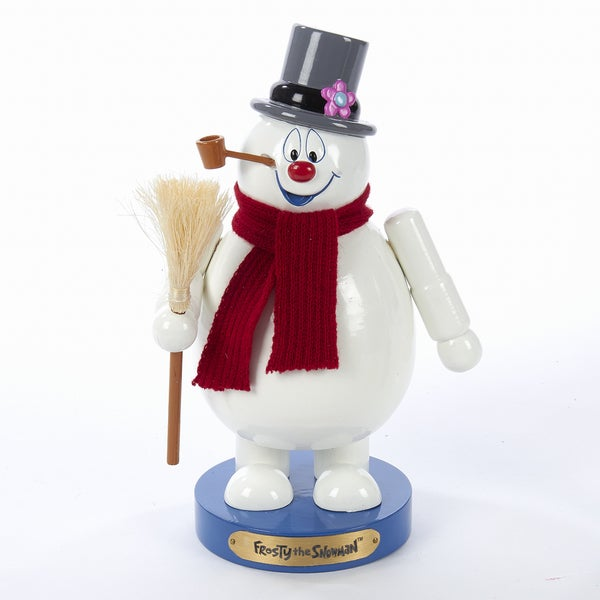 Kurt Adler 10-Inch Wooden Frosty the Snowman Nutcracker