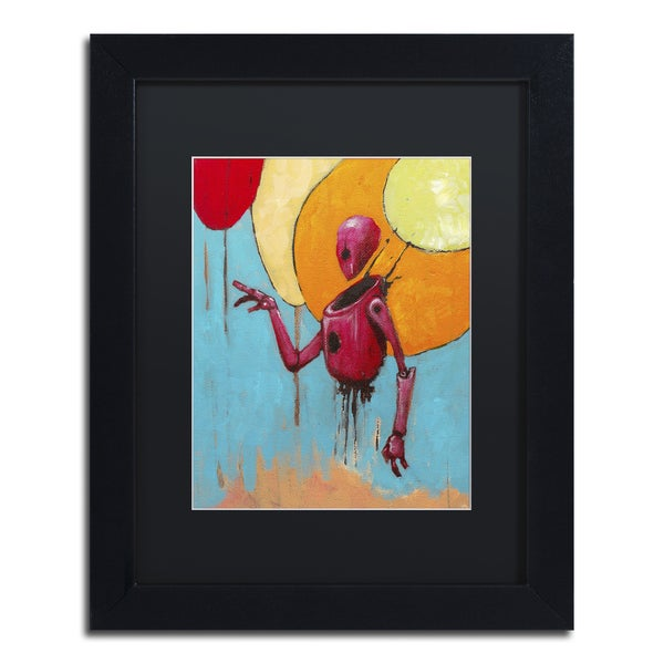 Craig Snodgrass 'Red Junk Robot' Matted Framed Art