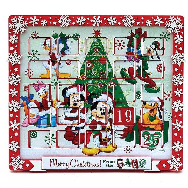 Kurt Adler 9.5-Inch Mickey Mouse and Friends Advent Calendar