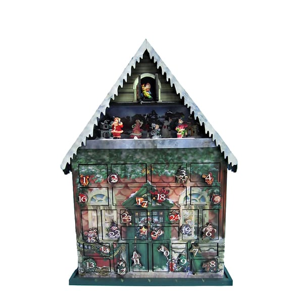 Kurt Adler 22.8-Inch Battery-Operated Musical Advent Calendar