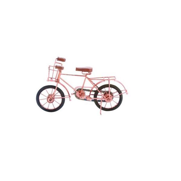 Benzara Pink Metal Bicycle Figurine