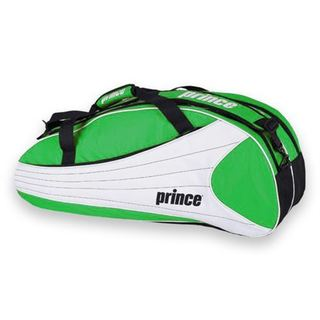 Prince Victory Greeen, White and Black Manmade Nylon 6-pack Tennis Bag