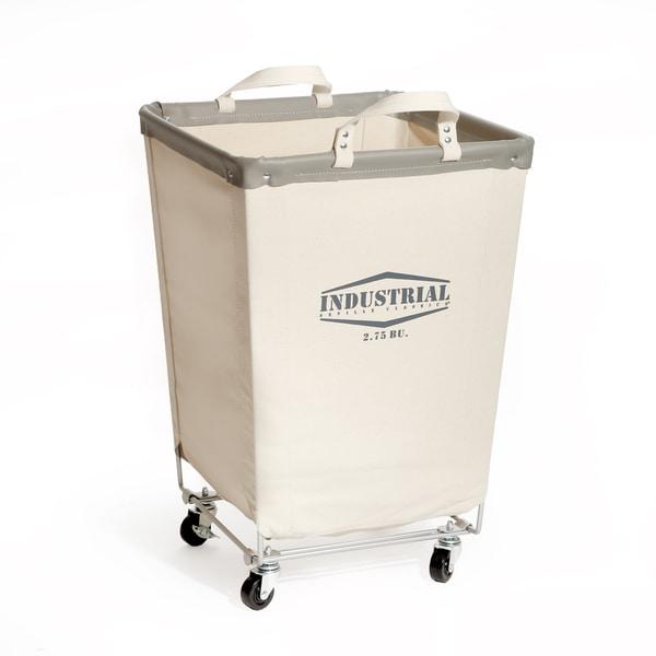 Seville Classics Off-white Canvas/Cotton Commercial Laundry Hamper Cart