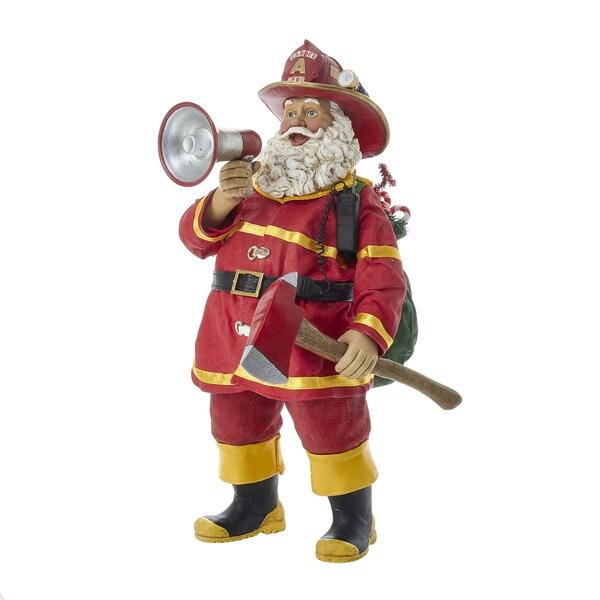 Kurt Adler 11-Inch Fabrich Fireman Santa