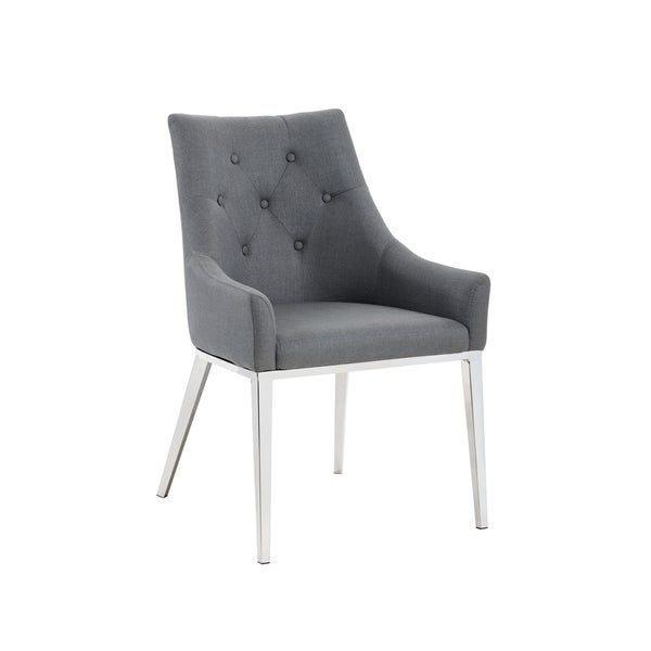 EVANS DINING CHAIR - CLOUD GREY FABRIC