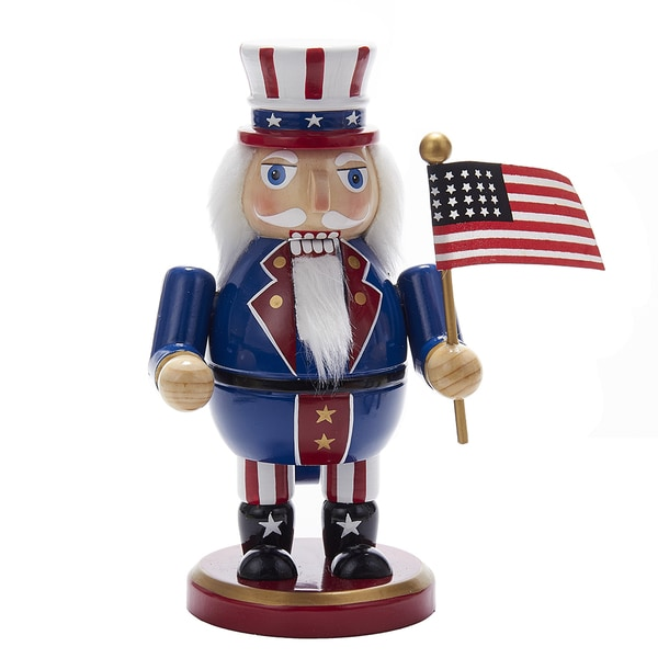 Kurt Adler 8-Inch Wooden Uncle Sam Nutcracker