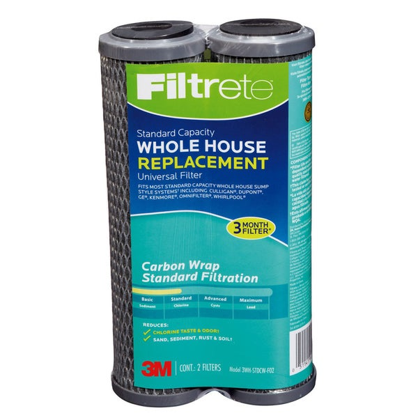 Filtrete Air Purifiers 3WH-STDCW-F02 Filtrete#26; Whole House Carbon Replacement Filter 2 Count 21532410