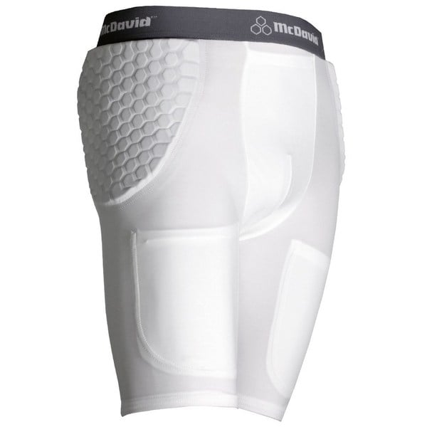 McDavid 755 Y Youth Pro Model White X-large Padded Football Shorts