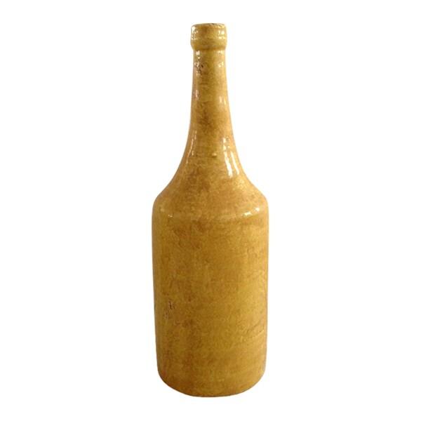 Large Dark Brown Tall Bottle