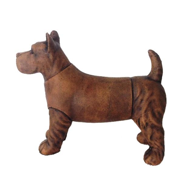 Brown Ceramic Antique Dachshund Dog