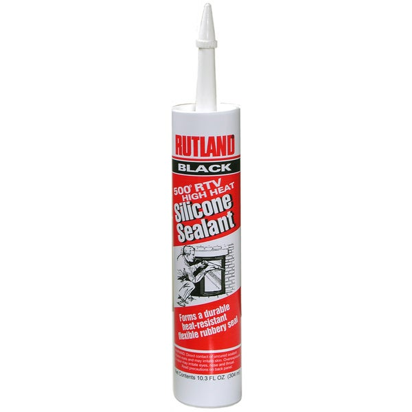Rutland 76 10.3 Oz Black Silicone Sealant