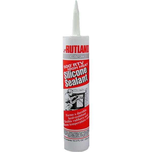 Rutland 76C 10.3 Oz Clear Silicone Sealant