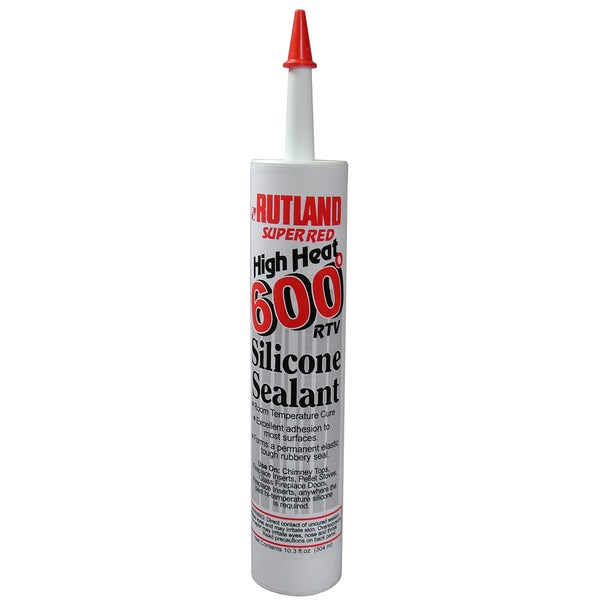 Rutland 76R 10.3 Oz Red 600F RTV Silicone Sealant