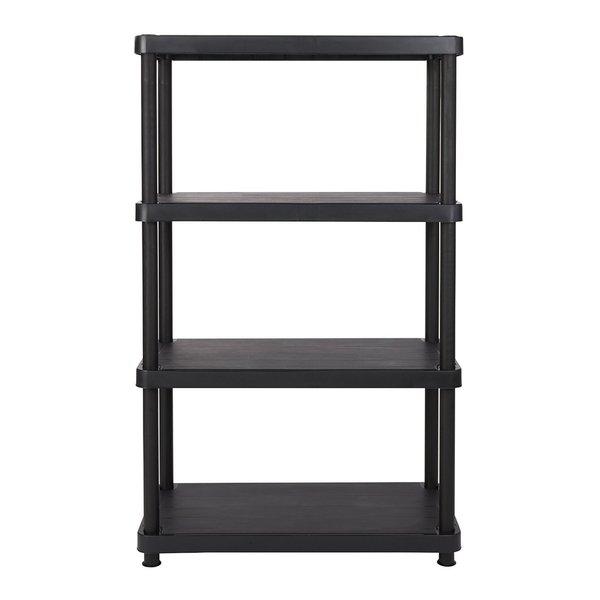 Keter 4-tier 34 in. W x 16 in. D x 54.5 in. H Black Freestanding Shelve Unit Storage Rack
