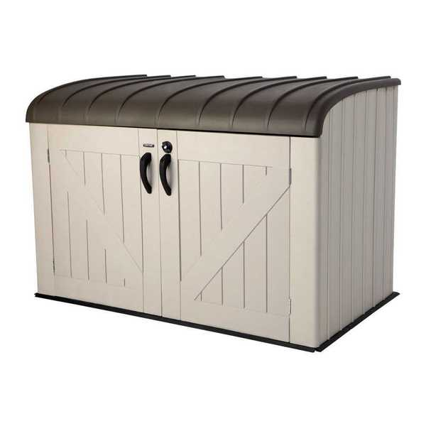Lifetime Brown Plastic Horizontal Storage Box
