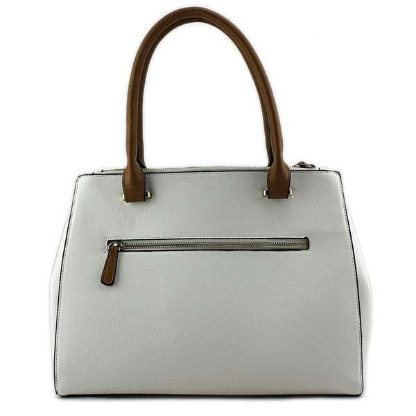 Kelly & Katie Women's 'Kaydence Zipper Satchel' White Faux-leather Handbag