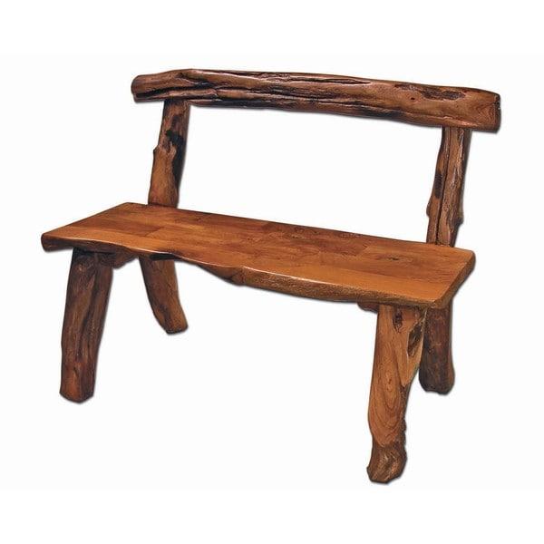 Alpine Brown Wood Bench