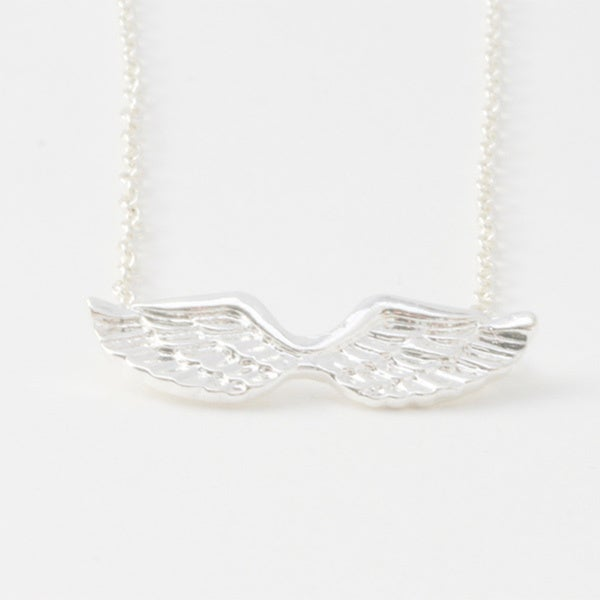 Silvertone Angel Wing Necklace