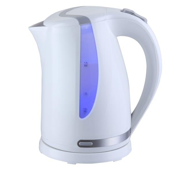 Mega Chef 1.7Lt. Plastic Electric Tea Kettle- White