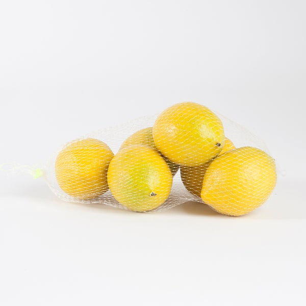 Faux Lemons - 6 pieces
