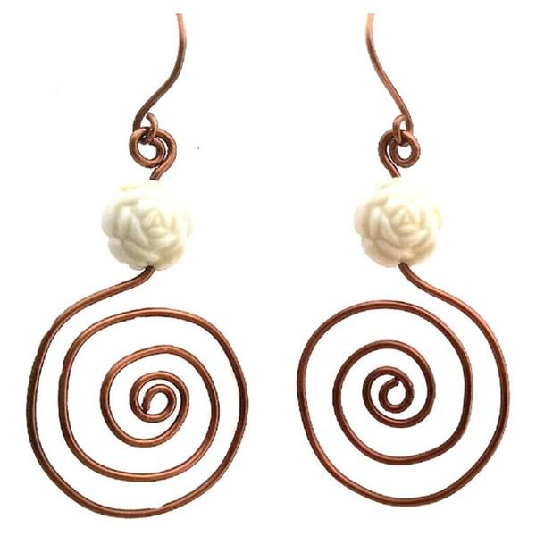 Heavenly Beads Spiral Earrings