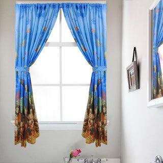 Underwater Sea Paradise 54-inch Water-resistant Bathroom Window Curtain Set with Holdbacks