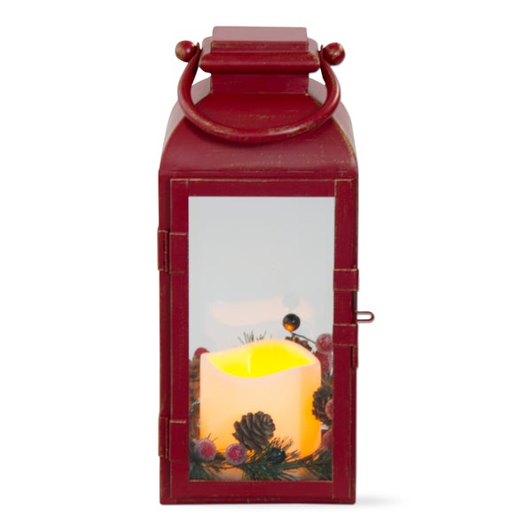 TAG Christmas Flameless Led Lantern, Red Benton Small