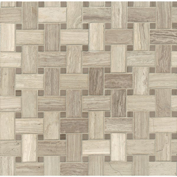 Basket Weave Mosaic Stone Tile (Pack of 10)