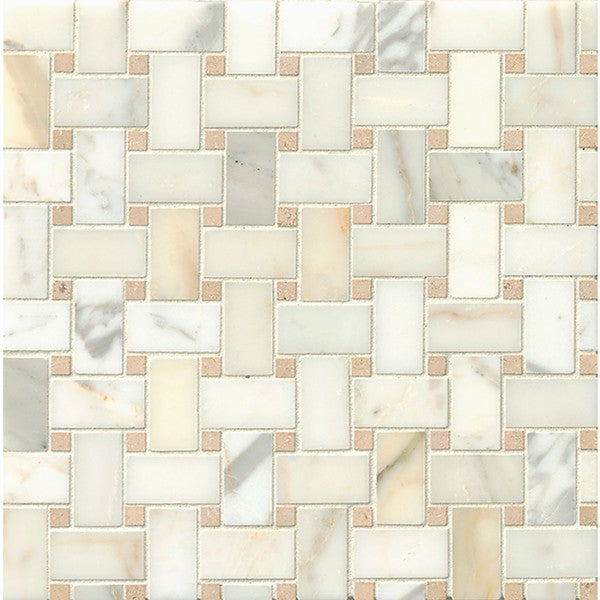 Basket Weave Ashbury Mosaic Stone Tile Sheets (Pack of 10)