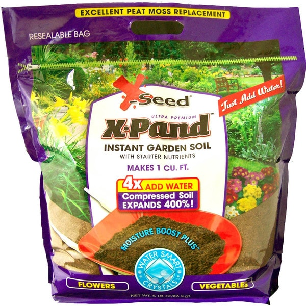 X-Seed 20774 5 Lb X-Pand Instant Garden Soil