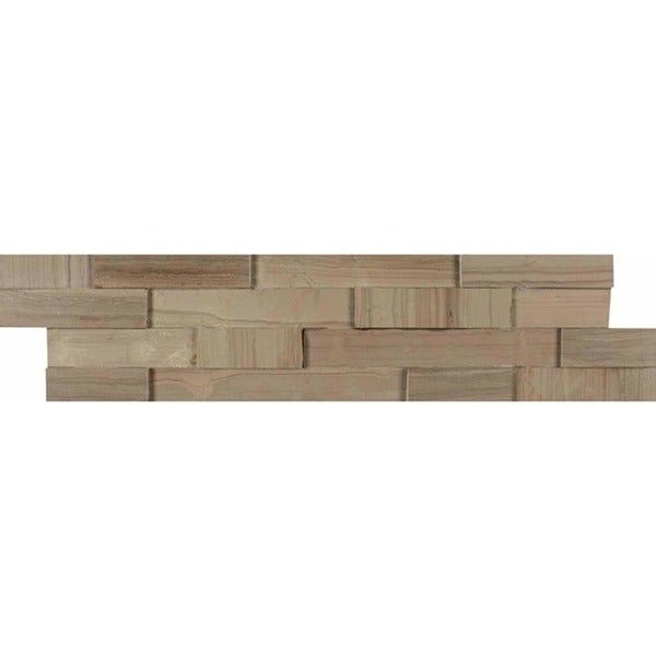 Bedrosians Natural Ledger Lennox Grey Stone Tile (Pack of 7)
