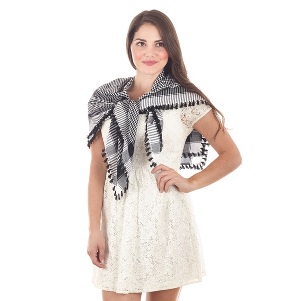 Houndstooth Viscose Scarf