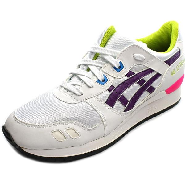 Asics Women's Gel-Lyte III White Leather Athletic Shoes