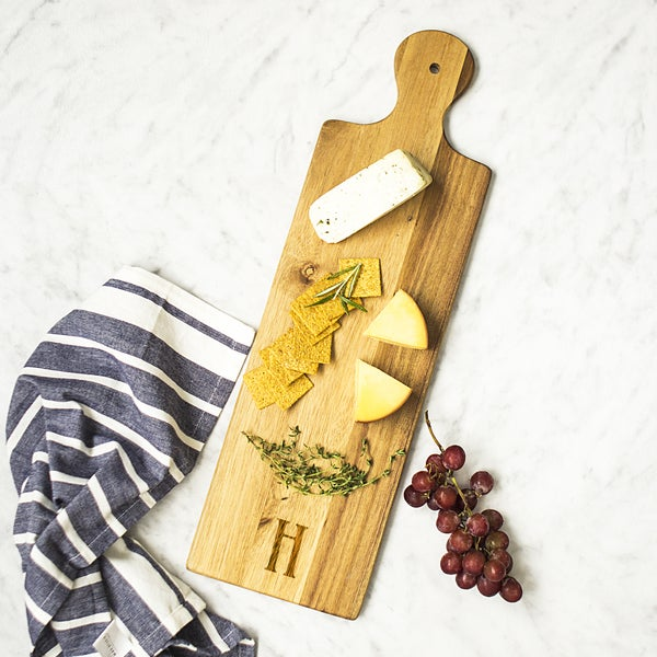 Brown Acacia Personalized Bread Serving Board