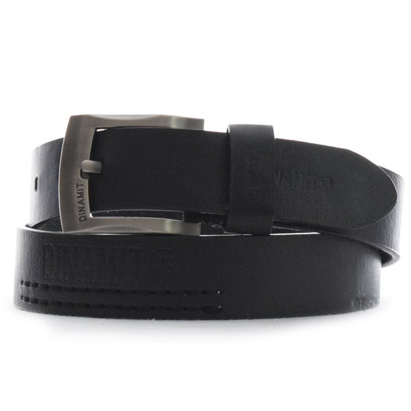 Dinamit Men's Black Leather One-size-fits-most Belt