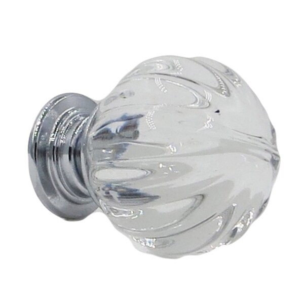 Clear Crystal Pumpkin Glass 1-inch Small Knob Pull (Pack of 6) 21536190