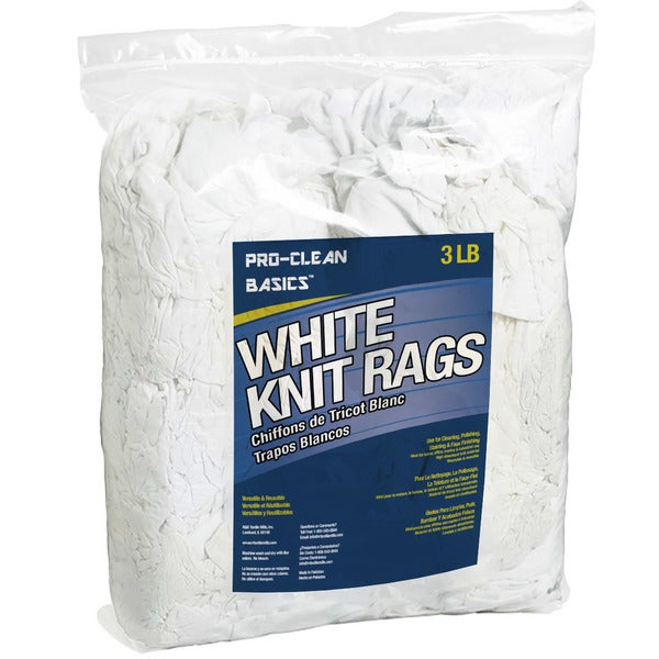 Pro-Clean Basics White T-shirt Knit Rags