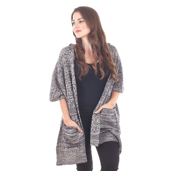 Open Front Wrap With Pockets