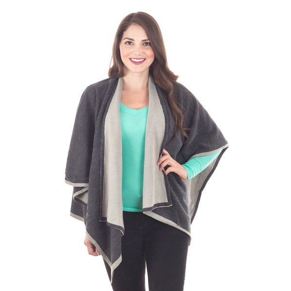 Two-Tone Grey Poncho