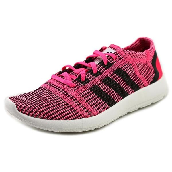 Adidas Women's Element Refine Tricot Pink Fabric Athletic Shoes