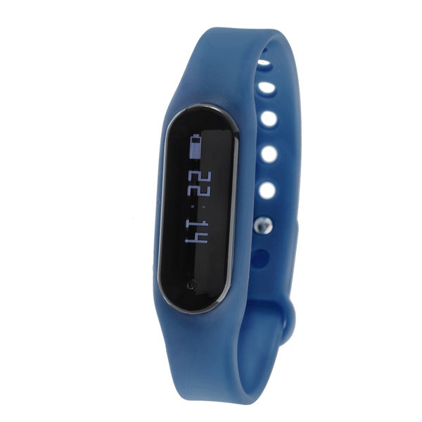 Zunammy Navy Blue Bluetooth Heart Rate Monitor Activity Tracker w/ Touchscreen