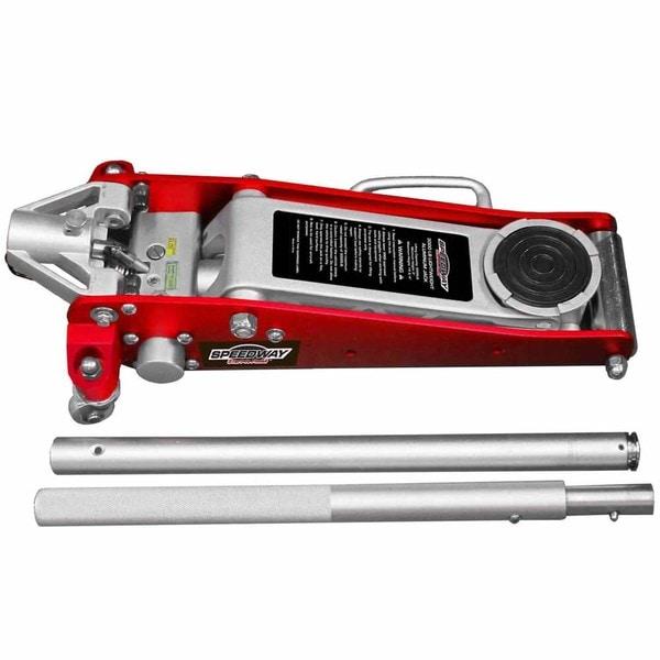 Speedway Red Aluminum 1.5-ton High-speed Floor Jack