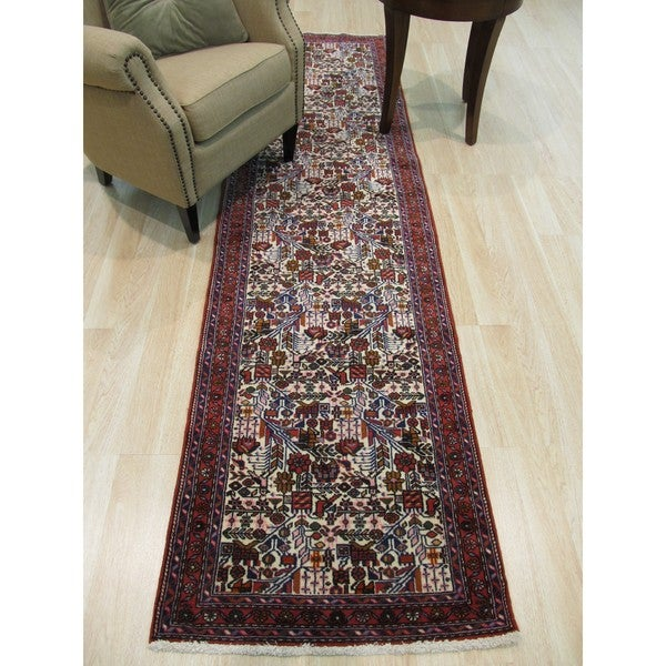 Hand-knotted Wool Ivory Traditional Oriental Tafresh Rug (2'7 x 9'9) - 2'7 x 9'9 21539893