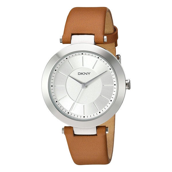 DKNY Women's Stanhope Brown Leather Quartz Watch