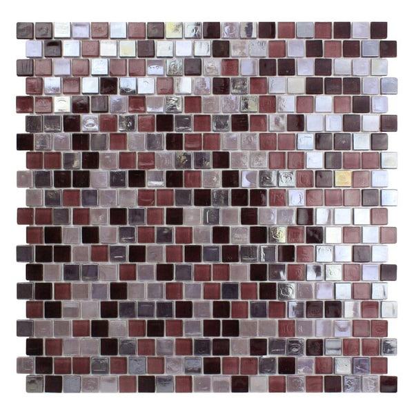 Purple Glass Mosaic Tile