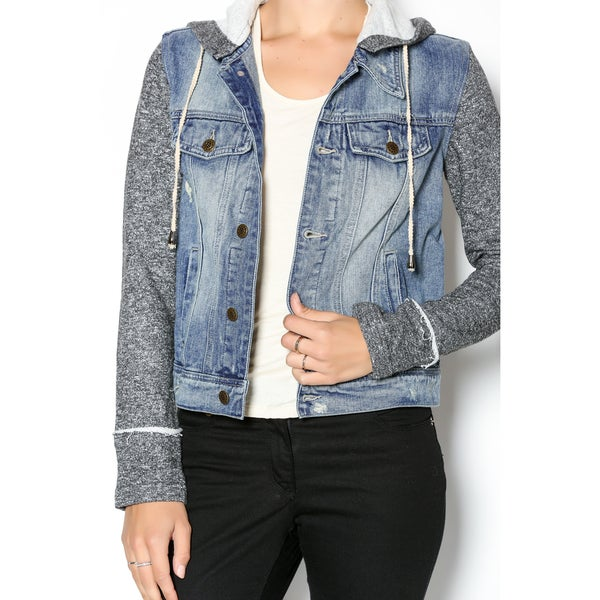 Techstyles Women's Distressed Denim Jacket